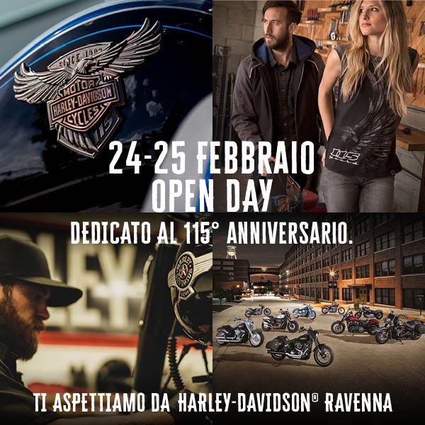 harley-davidson ravenna OPEN DAY 24 E 25 FEBBRAIO 2018 COME ON!!!
